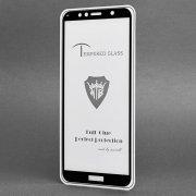 Защитное стекло для Huawei Honor 7C (полное покрытие)(черное) — 2