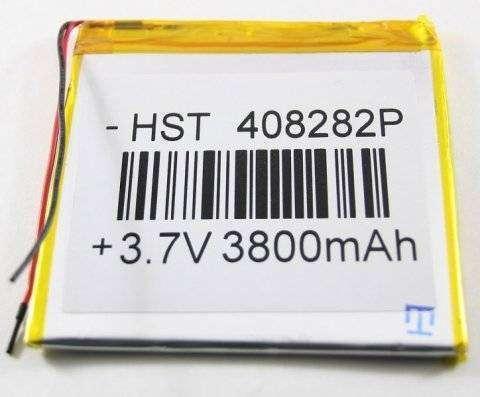 Аккумуляторная батарея универсальная 408282p 3,7v 3800 mAh 4*82*82 мм — 1